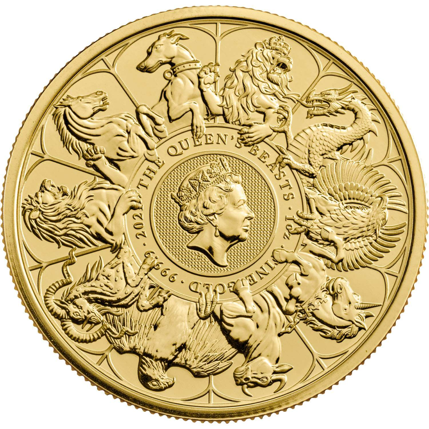 2021 1oz Queen's Beasts Gold Completer Coin